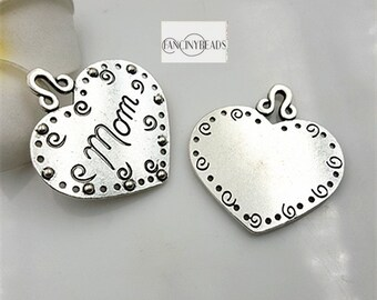 Mother's day gift choice-Heart mom pendants 50 pcs-T0819