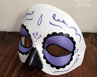 Purple Day of the Dead Sugar Skull Mask