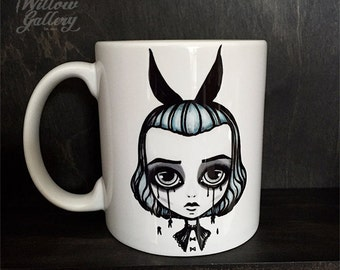 Bunny girl Mug by Lupe Flores