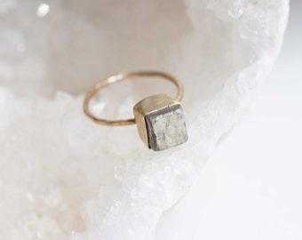 Peruvian Pyrite Cube Ring