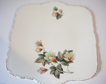 Vintage Cream Petal Serving Platter Grindley England