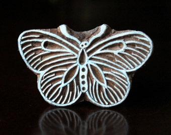 Textile Stamp, Pottery Stamp, Indian Wood Stamp, Tjaps, Blockprint Stamp, Printing Stamp Blocks- Butterfly
