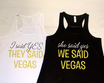 Personalized Custom Bridal Party Tank Top Flowy Racerback Tank Printed in Gold Chrome