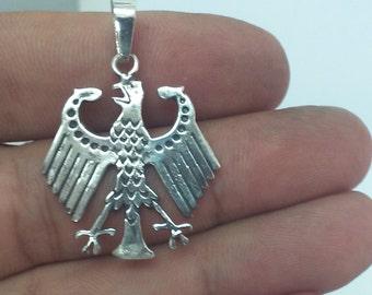 Eagle, Eagle Necklace, German Eagle Pendant, Silver Eagle Necklace, Bundesadler Eagle Necklace, Handmade Eagle Pendant, Steampunk Necklace
