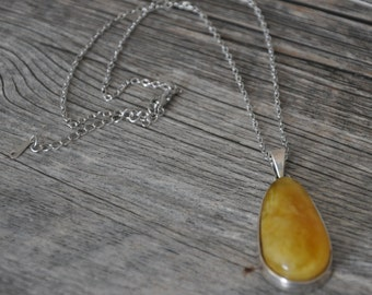 HandCrafted Butterscotch   Natural Baltic Amber Pendant