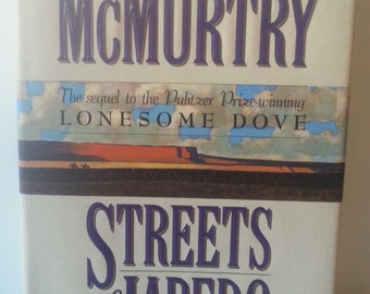 Western Books, Western Decor,Old Hardcover Books, Old Books For Sale, Streets of Laredo by Larry McMurtry