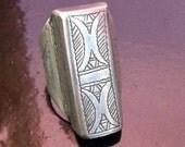 Silver Tuareg Ring Inner Diameter 1,8 cm / 0.71 inch , US size 8