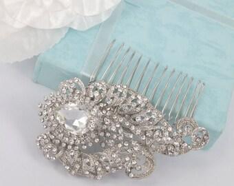 Ivy-Vintage Style Swarovski Rhinestone Bridal Comb