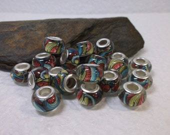 15 Gorgeous Euro Lampwork Beads