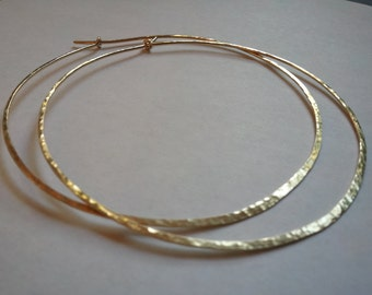 Hoop Earrings 3 Inches  Long 14 K Gold Filled