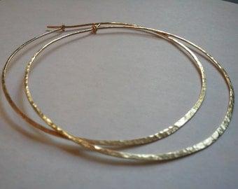 Hoop Earrings 3 Inches  Long 14 K Gold Filled