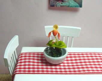 A Bowl of Orchid for  Dollhouse 1/12 Scale