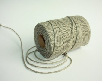 2 mm Elegant Linen Yarn - Natural Color - 4 Spools = 440 Yards = 400 Meters