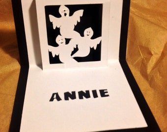pop up ghost or pumpkin place cards / set of 10