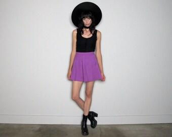 Fuchsia TENNIS SKIRT Mini Skirt 90s Womens VTG Size 26 Waist