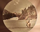 "Royal Doulton ""BOW FALLS"" Banff National Park D6474 plate"