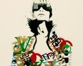 Portrait of Anna Wintour 18x24 Fashion Vogue Graffiti Pop Art Portrait on Canvas Spray Painting Versace Prada Chanel Louis Vuitton Burberry
