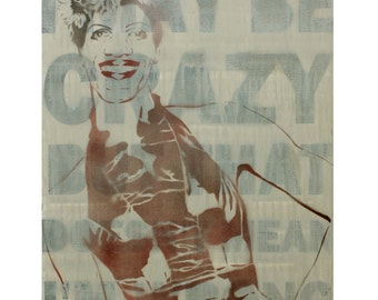 Marsha P Johnson Portrait 24x30 Revolutionary Political Propaganda Gay Rights Art Street Art Obey Inspired Drag Queen Poster NYC Street Art