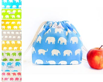 Toddler Backpack Lunch Bag - Elephants (Choose Your Color)
