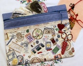 I Love Needlearts Cross Stitch, Sewing, Embroidery Project Bag