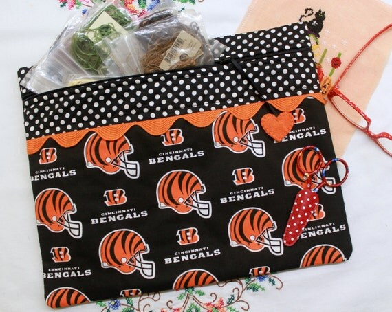 Cincinatti Bengals Cross Stitch, Sewing, Embroidery Project Bag