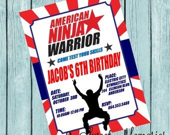 American Ninja Warrior Printable Invitation