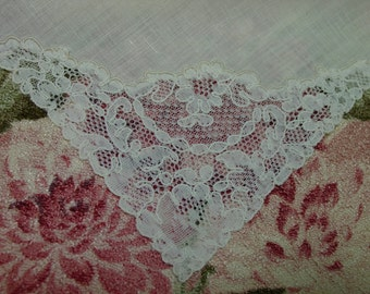"Fabulous Set of 11 Antique French Alencon Lace Dinner Napkins, 17"""