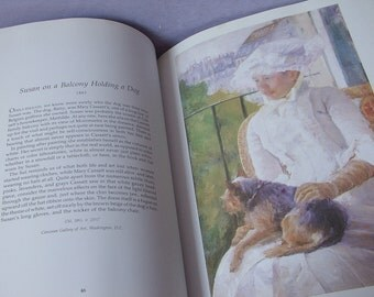 Vintage Mary Cassatt Paintings and Prints book, 1980, Large Paperback, Victorian Paintings, Victorian mother and children. Gift for new mom