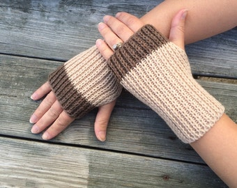 Mens Knitwear, Gifts for Him, Fingerless Gloves for Men, Fingerless gloves, Knit Gloves, Hand Warmers, Texting Gloves, Neutral Colors