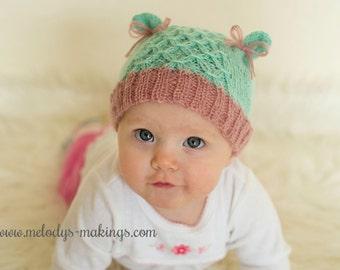 Kid Bear Hat Knitting Pattern ~ Adult Bear Hat Knitting Pattern ~ Baby Bear Hat Knitting Pattern ~ Knit Bear Hat Pattern ~ Knit Kitty Hat