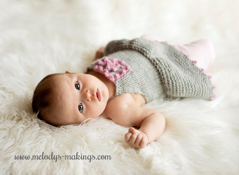 Summer Baby Knitting Patterns : Knit Summer Baby Dress Pattern Summer Dress Knitting Pattern