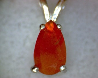 Stunning Faceted Fire Opal Pendant