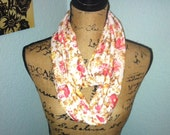 Shabby Country Floral Infinity Scarf