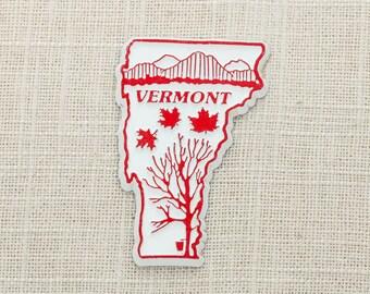 Vermont Vintage State Magnet | Maple Syrup Travel Tourism Summer Vacation Memento | USA Northeast America New England  | Fridge Refrigerator