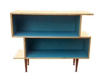 Mid Century Inspired Bookshelf Shelving Unit