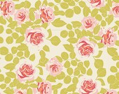 KNIT, Pruning Roses Citrus, Cultivate Collection, Bonnie Christine, Art Gallery Fabrics, Stretchy Fabric