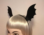 Gothic Bat Wing Headband - Halloween