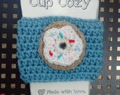 Crochet Cup Beverage Drink Cozy Hot Coffee Tea - Donut With Sprinkles Gifts Under 5