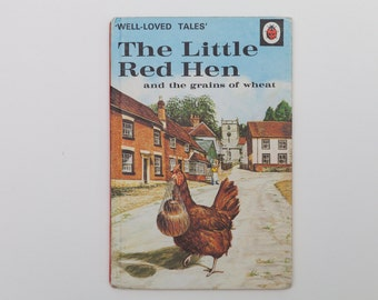 The Little Red Hen and the Grains of Wheat - Vintage Ladybird Book, Well-Loved Tales, Series 606D,  1970s