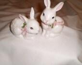 Avon Rabbit Salt and Pepper Shakers 1990/Victorian/country/shabby chic/kitchen/kitsch