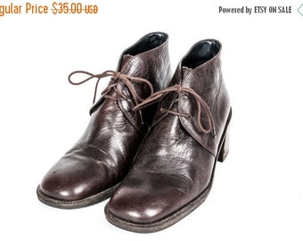 30% OFF Short Brown Boots Women's Size 7 .5