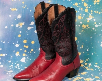 30% OFF ARIAT Red & Black Cowboy Boots Women's Size 8 .5 B