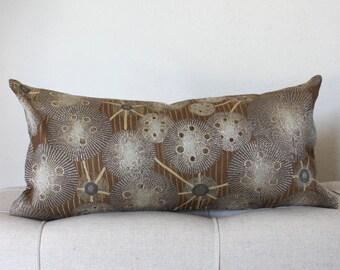 Lumbar Pillow Cover Brown Pillow Grey Pillow Decorative Pillow Stripes Circles Throw Pillow Cushion Cover 12x24 12x21 12x18 12x16 10x20