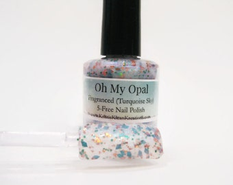 Oh My Opal Fragranced October Birthstone Nail Polish, Opal, fragranced nail polish, glitter nail polish, October birthstone