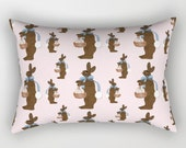 Rectangular Throw Pillow, Chocolate Easter Bunny