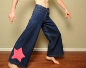 """vintage 90s gat 5 jeans JNCO style wide leg pants raver skater 1990 wide leg jeans skate rave 30"""" opening 27x30 27 waist drug pocket"""