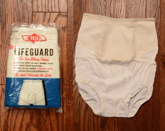 vintage 50s mens underwear Reis Lifeguard trim military posture 1950 male spanx elastic waistband support briefs sports