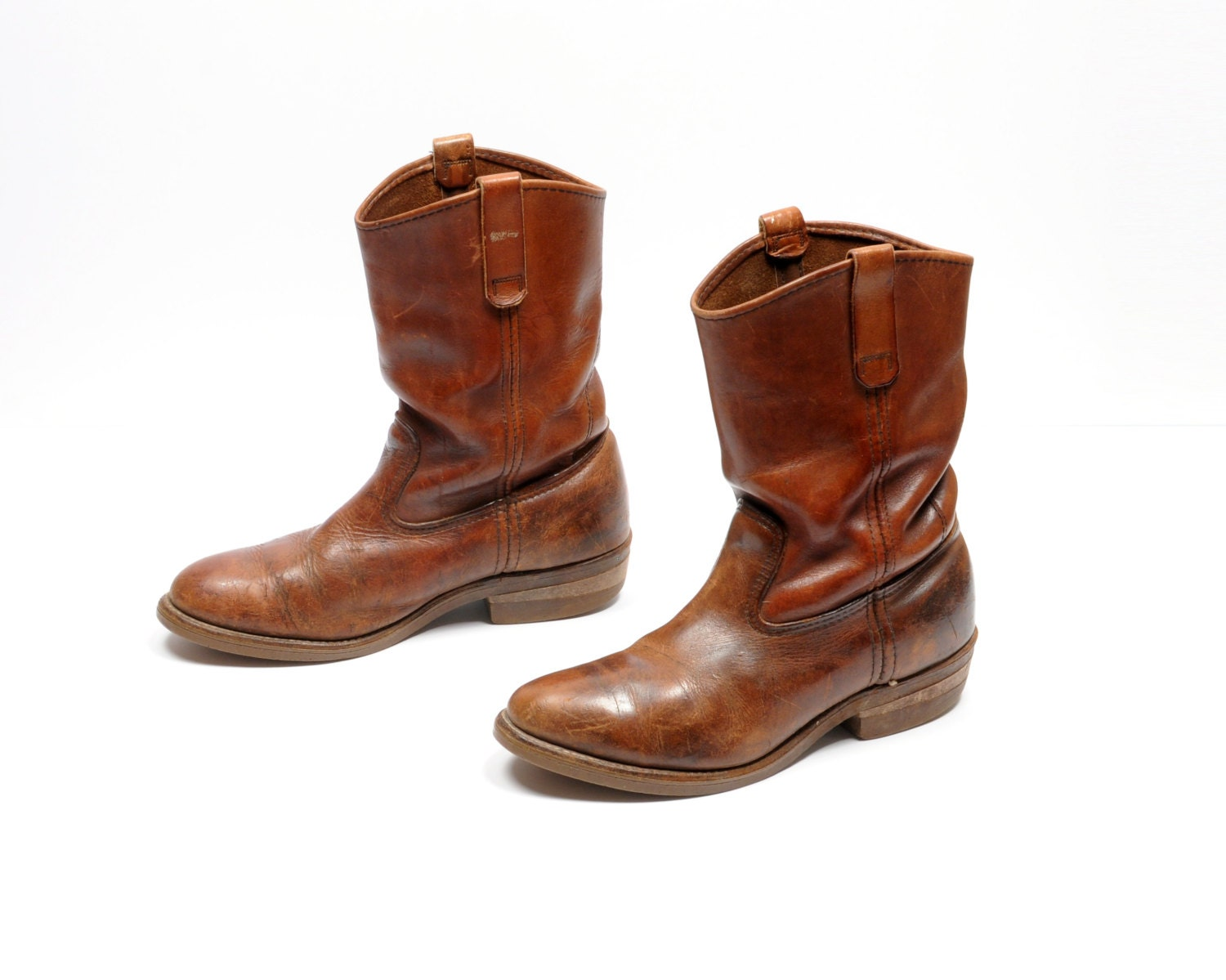 vintage 70s wing boots pecos boots motorcycle western