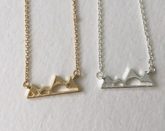 colorado mountain charm necklace | gold or silver | rocky mountain souvenir