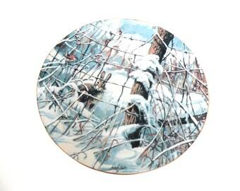 Porcelain Decorative Plate Bunny Winter Lowell Davis COUNTRY Schmid- 1989 Peter & The Wren Vintage 2017 Trends